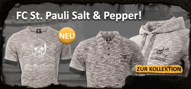 fc st pauli salt & pepper kollektion fanartikel t-shirt polo pullover