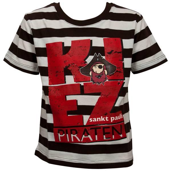 FC St. Pauli - Kinder T-Shirt Kiez - braun/weiß