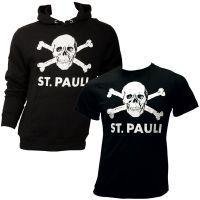 FC St. Pauli - Totenkopf-Set mit Pullover und T-Shirt - schwarz