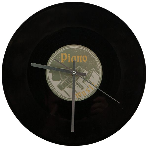 Wanduhr schallplatte piano retro rocknshop - Wanduhr schallplatte ...