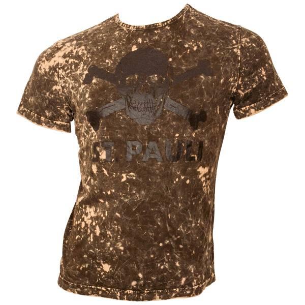FC St. Pauli - T-Shirt Spots - Totenkopf - braun
