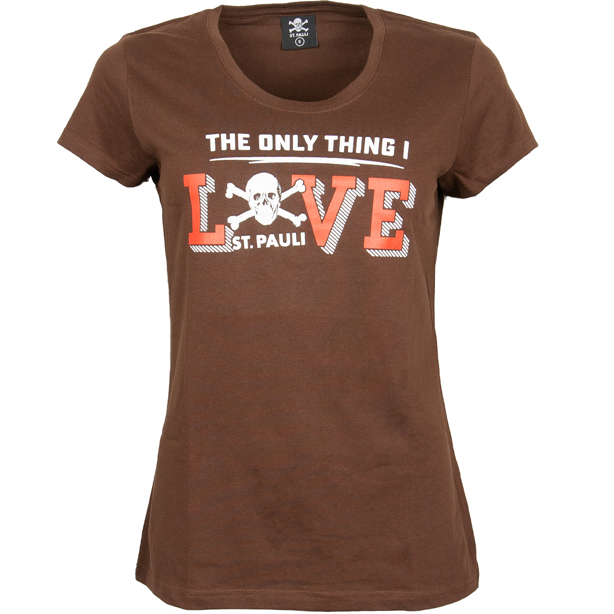 FC St. Pauli - Damen T-Shirt Love - braun