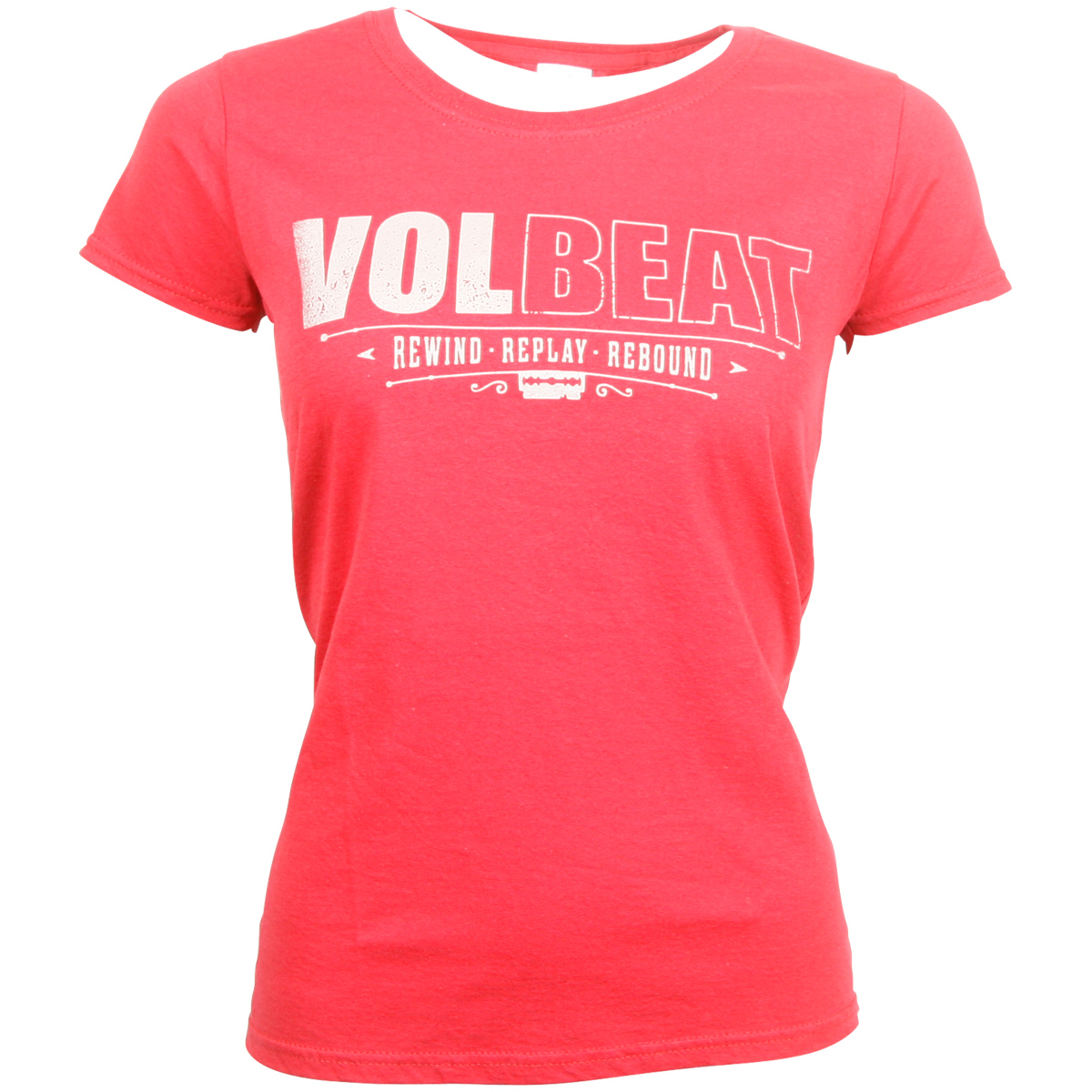 Volbeat - Distressed Logo - Girlie Shirt - rot
