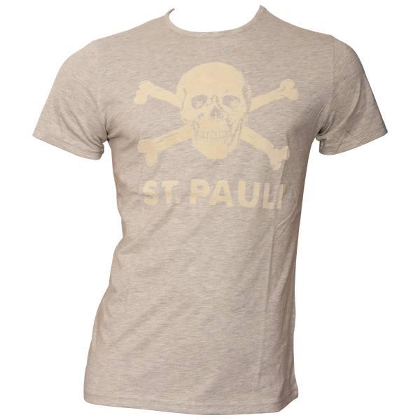 FC St. Pauli - T-Shirt Softstripes - grau