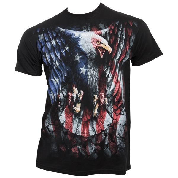 Spiral - Liberty USA - T-Shirt beidseitig bedruckt - schwarz