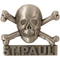 FC St. Pauli - Magnet Totenkopf 3D - silber