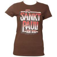 FC St. Pauli - Frauen T-Shirt Block - braun