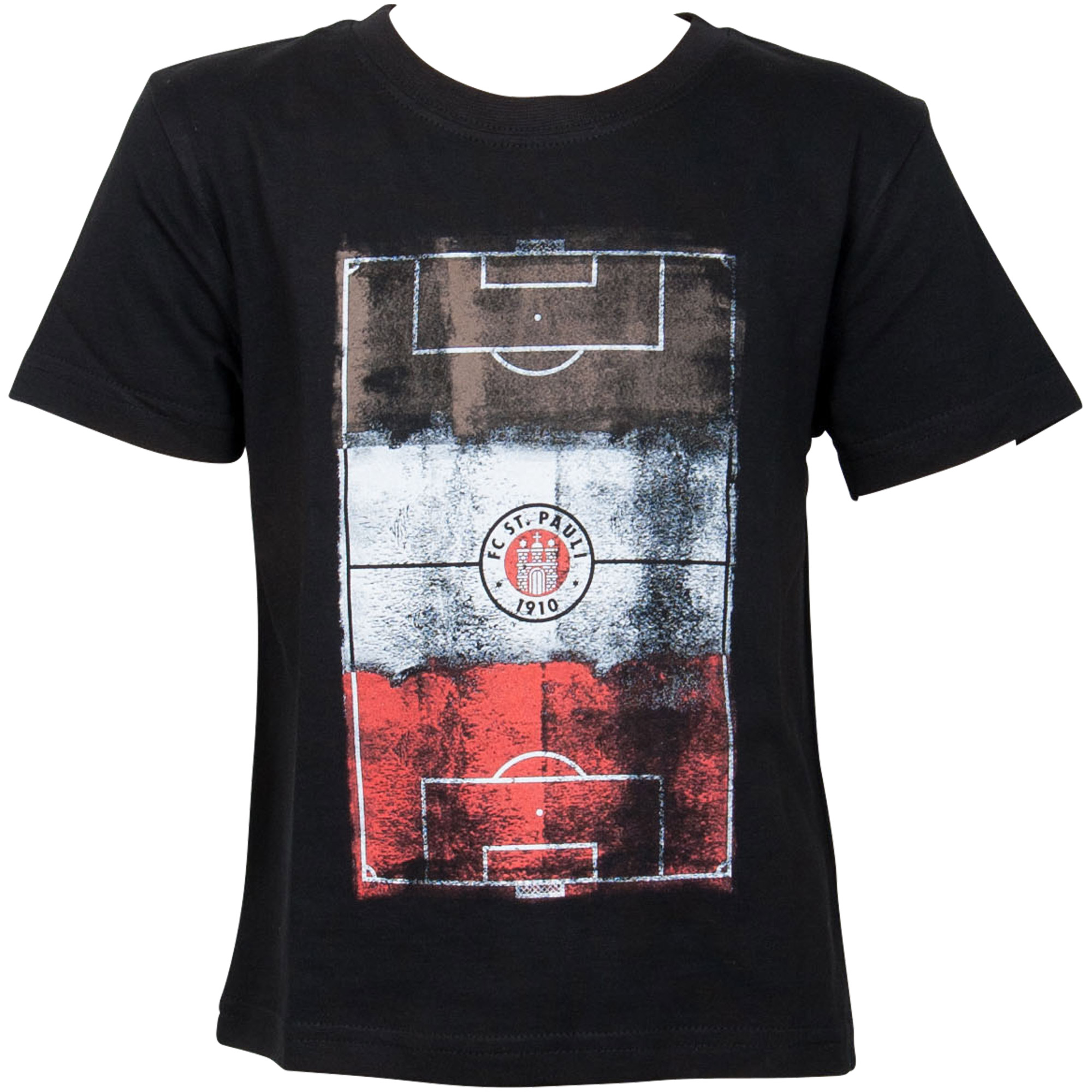 FC St. Pauli - Kinder T-Shirt Millerntor Logo - schwarz