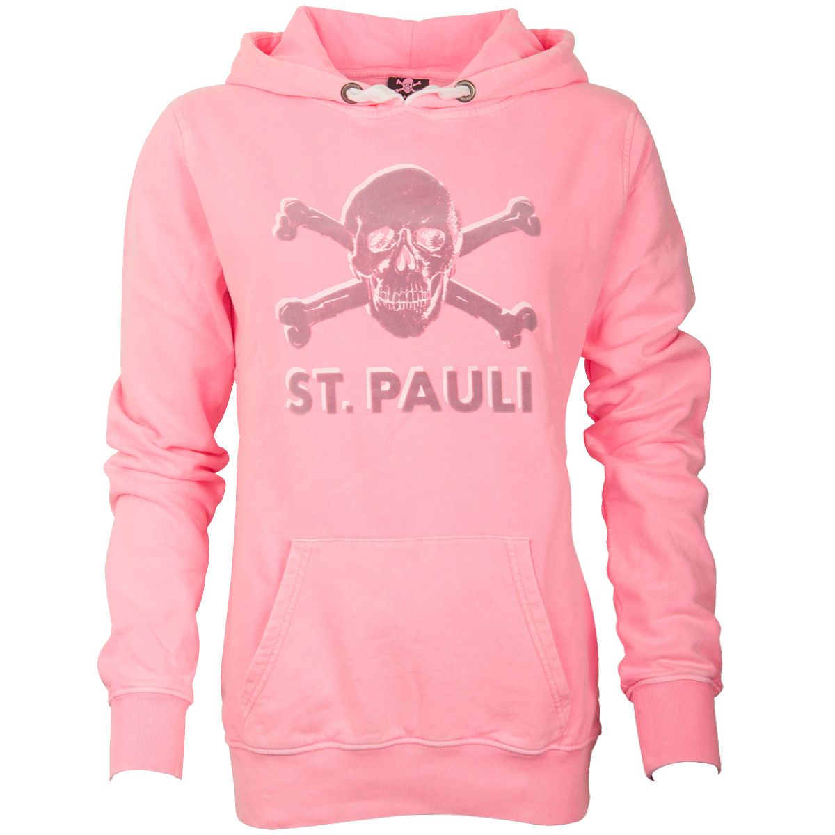 FC St. Pauli - Damen Kapuzenpullover Ruby Totenkopf - pink