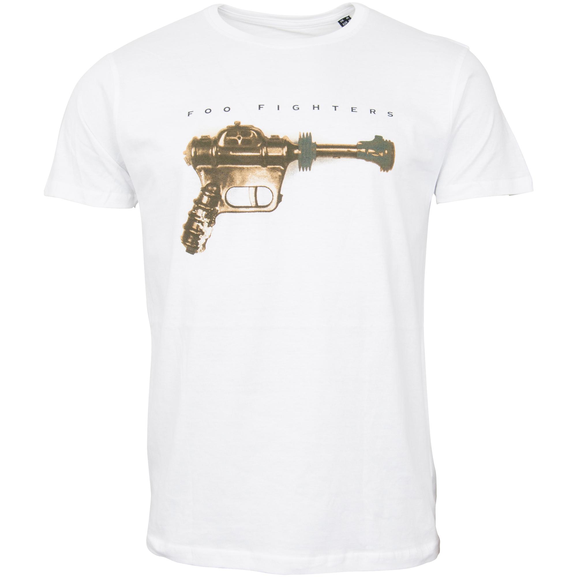Foo Fighters - T-Shirt Ray Gun - weiß