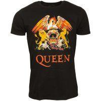 Queen - T-Shirt Classic Crest - schwarz