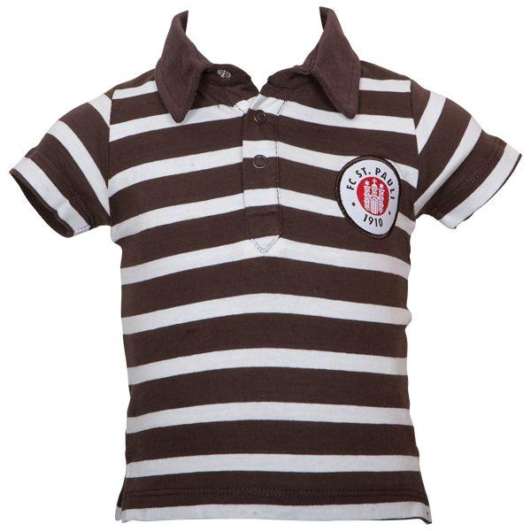 FC St. Pauli Baby Polo Stripes - weiß/braun