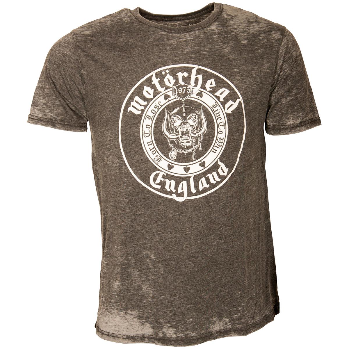 Motörhead - T-Shirt England Seal - grau-burnout