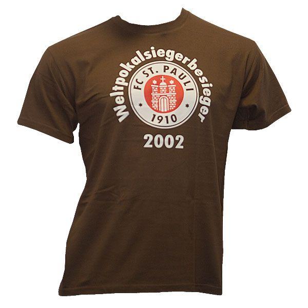 FC St. Pauli - T-Shirt Weltpokalsieger-Besieger - braun
