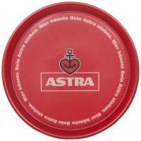 Astra - Tablett mit Anti-Rutsch-Belag  - rund - rot