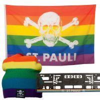FC St. Pauli - Regenbogen Set Totenkopf - mehrfarbig