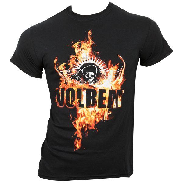 Volbeat - T-Shirt On Fire - schwarz