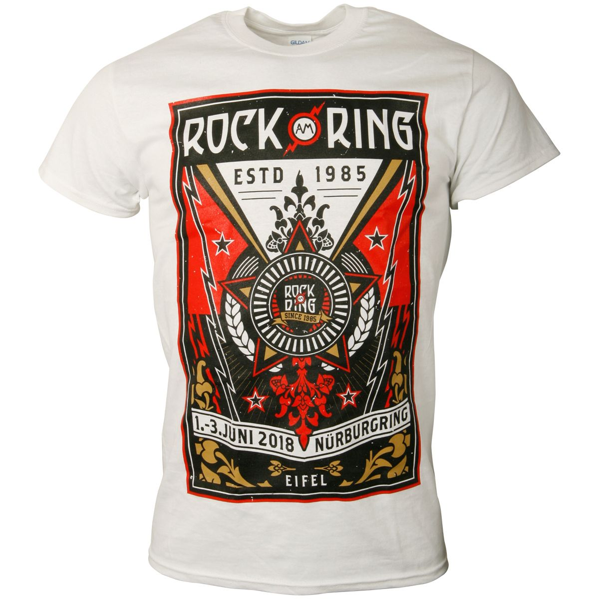 6c338a38 Official Limited Rock am Ring 2018 T-Shirt Rock Star Artwork - white |  ROCKnSHOP