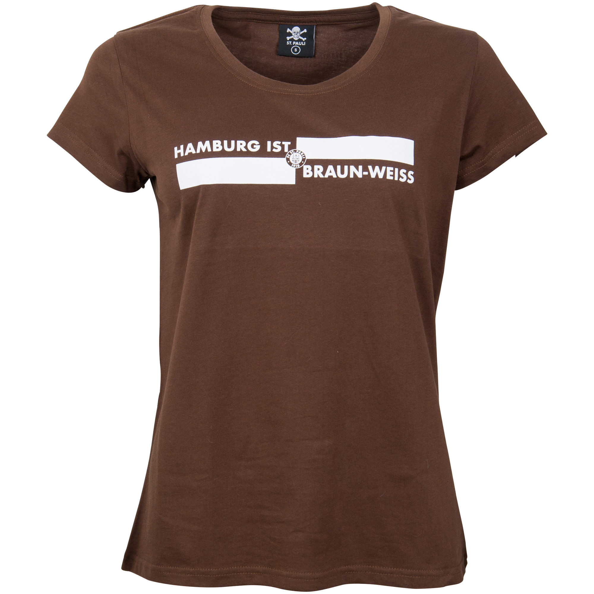 FC St. Pauli - Damen T-Shirt Hamburg ist Braun-Weiss