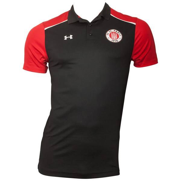 FC St. Pauli - Poloshirt Spieler 2016-17 - schwarz-rot