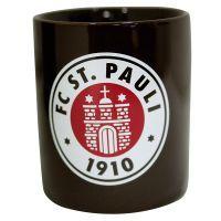 FC St. Pauli - Kaffeebecher Logo - braun