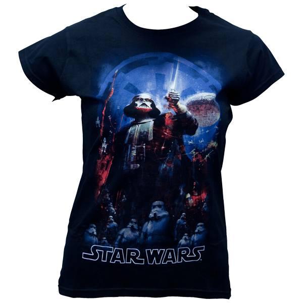 """Star Wars - Girlie-Shirt """"The Empire """" - schwarz"""