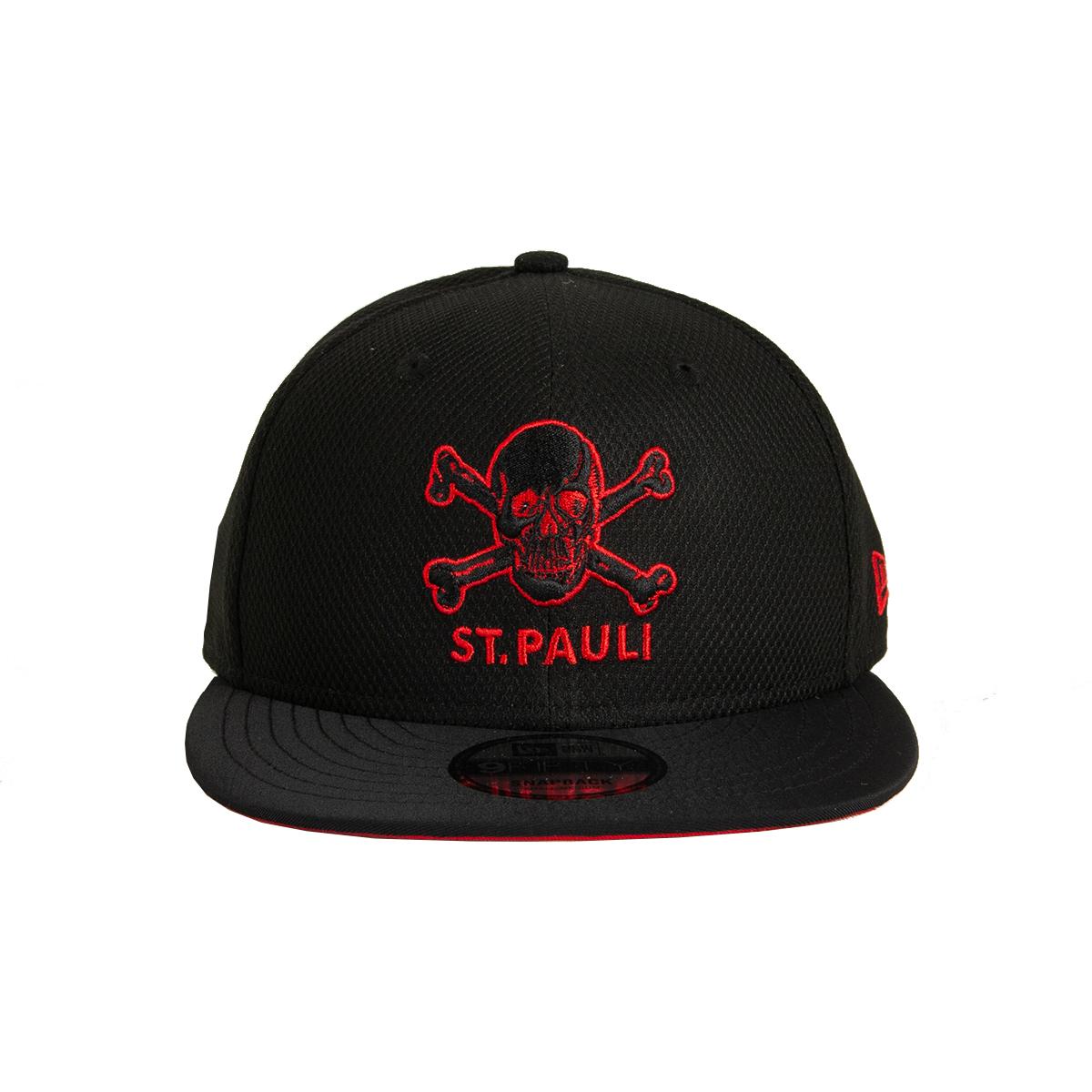 FC St. Pauli - Cap 9fifty Totenkopf Outline - schwarz