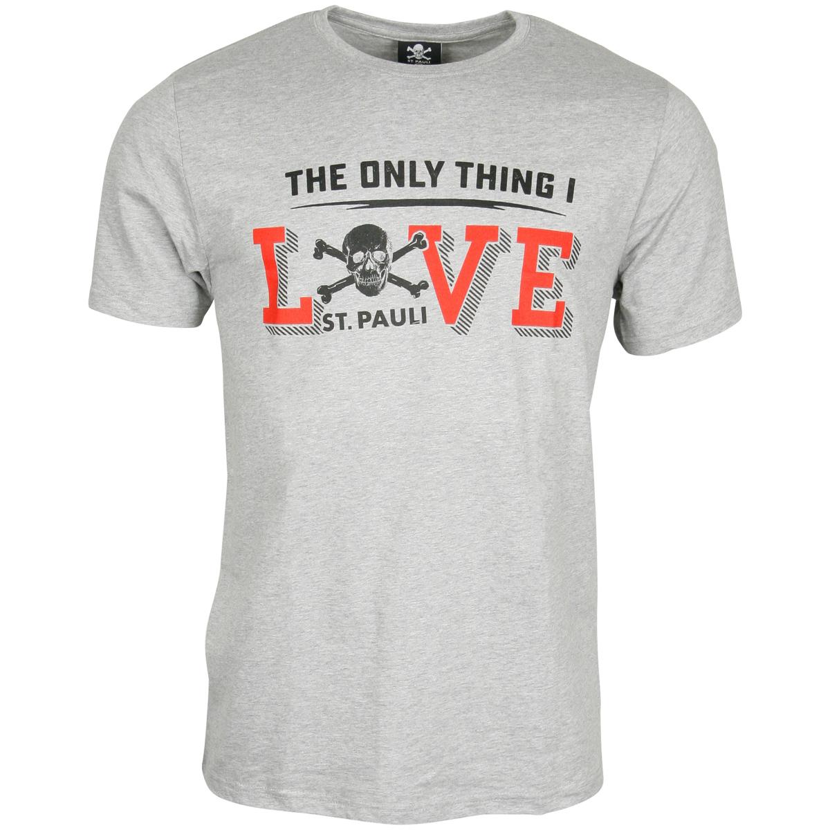 FC St. Pauli - T-Shirt Love - grau