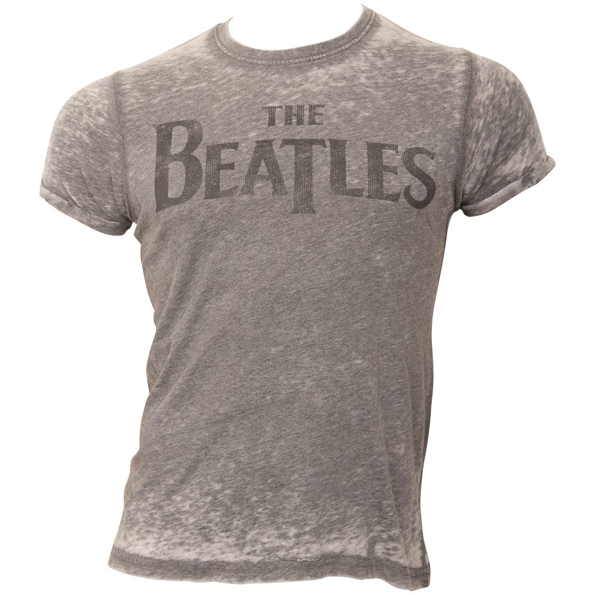 The Beatles - T-Shirt Drop T Logo - grau