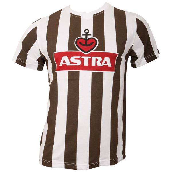 FC St. Pauli - T-Shirt Traditions-Shirt Astra - braun/weiß