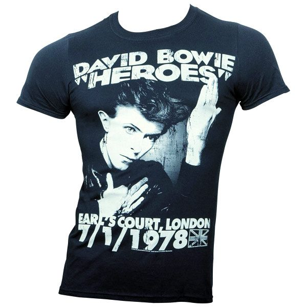 David Bowie - T-Shirt Heroes Earls Court - schwarz