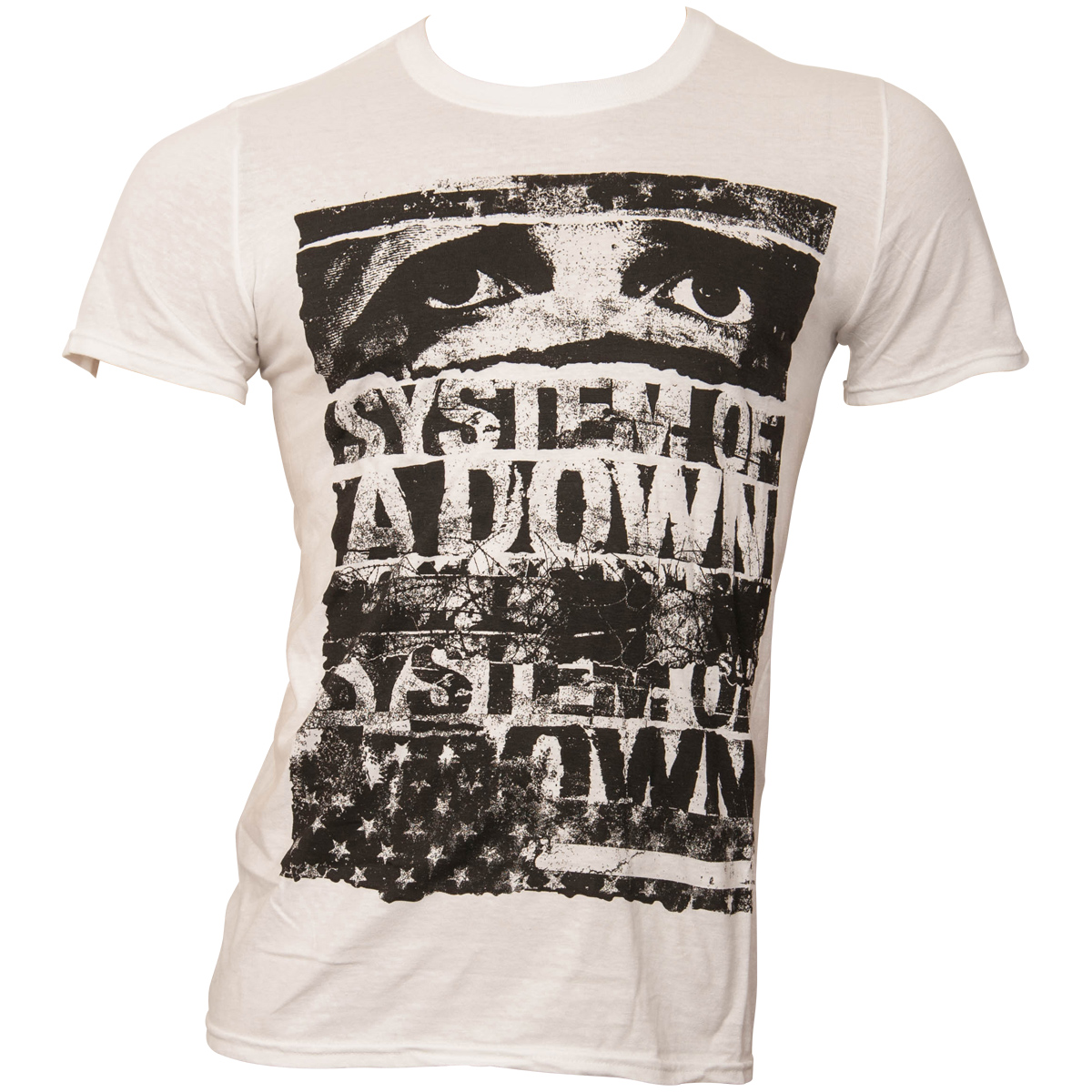 System Of A Down - T-Shirt Torn - weiß