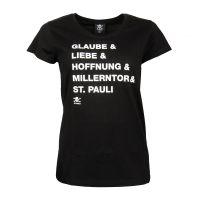 FC St. Pauli -  Damen T-Shirt GLH 2020 - schwarz