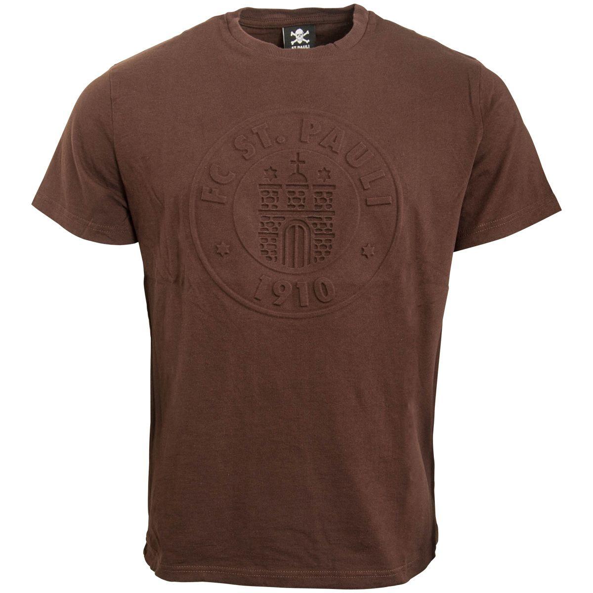 FC St. Pauli - T-Shirt 3D Logo - braun