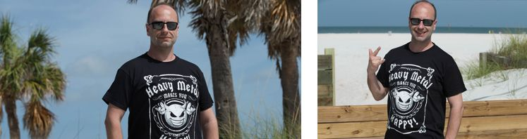 T-Shirts Heavy Metal macht Glücklich | Rock N Shop