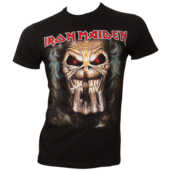 Iron Maiden - T-Shirt Eddie Candle Finger - schwarz