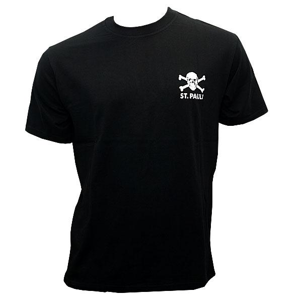 FC St. Pauli - T-Shirt Totenkopf klein - schwarz