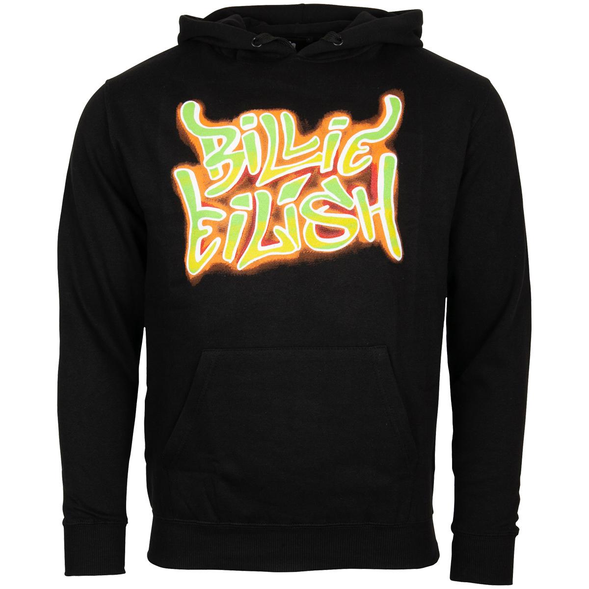 Billie Eilish - Kapuzenpullover Airbrush Flames - schwarz