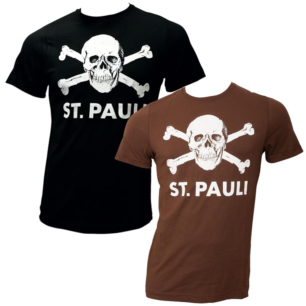 FC St. Pauli - Totenkopf-Set T-Shirts in schwarz und braun
