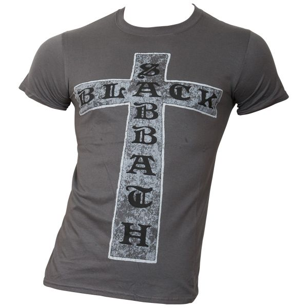 Black Sabbath - T-Shirt Cross - grau