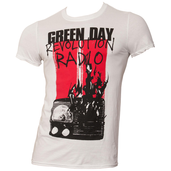 Green Day - T-Shirt Radio Combustion - weiß