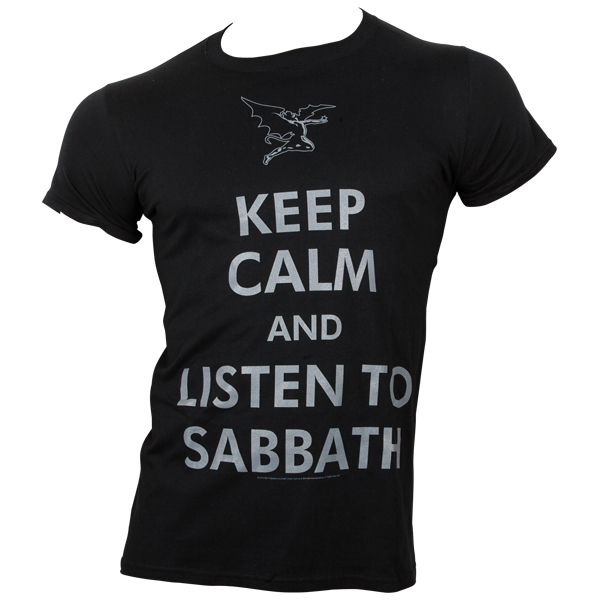 Black Sabbath - T-Shirt Keep Calm - schwarz