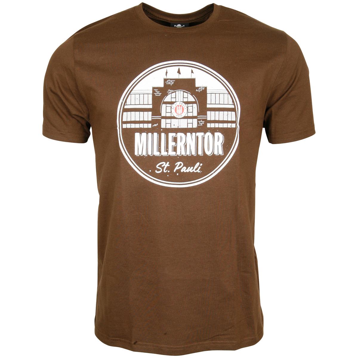 FC St. Pauli - T-Shirt Millerntor - braun
