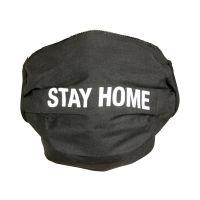 Mundbedeckung - Stay Home - schwarz