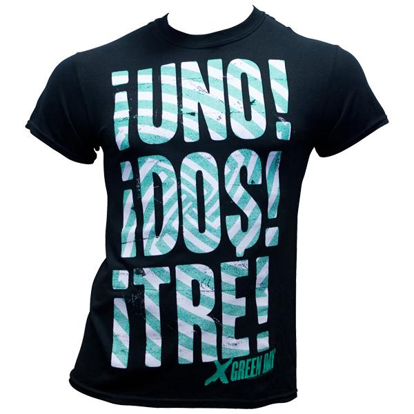 Green Day - T-Shirt Green Swirl - schwarz