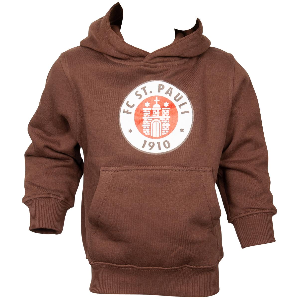 FC St. Pauli - Kinder Kapuzenpullover Logo - braun