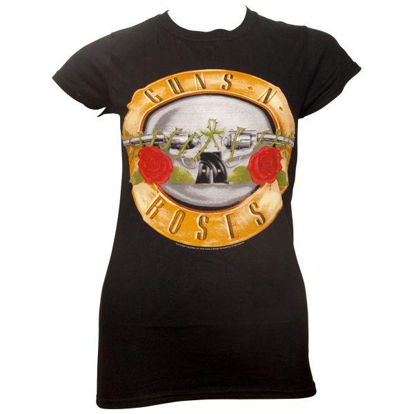 Guns N Roses - Frauen T-Shirt Classic Logo - schwarz