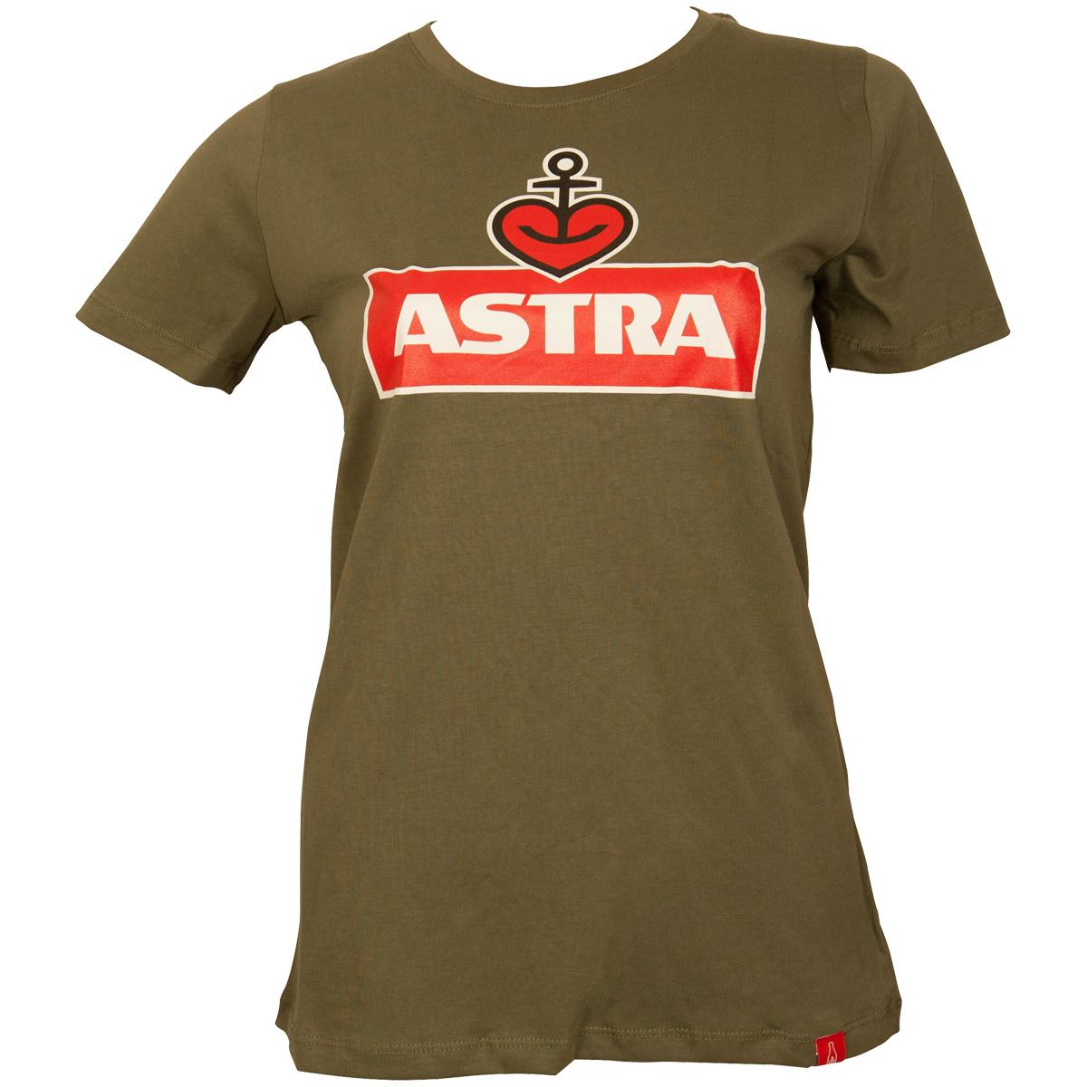 Astra - Damen T-Shirt Logo - oliv