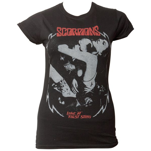 Scorpions - Frauen T-Shirt Love At First Sting- schwarz