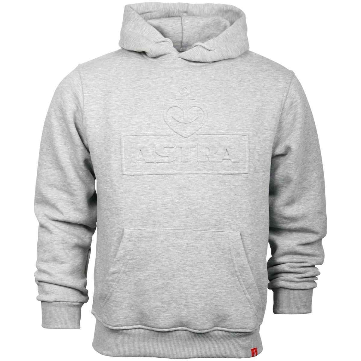 Astra - Kapuzenpullover Logo Geprägt - grau